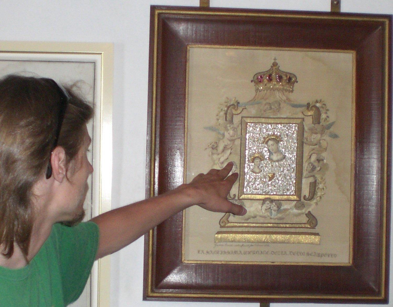 Икона вышитая волосами черногория